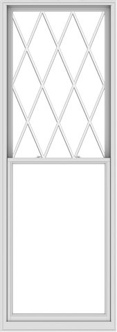 WDMA 40x114 (39.5 x 113.5 inch)  Aluminum Single Double Hung Window with Diamond Grids