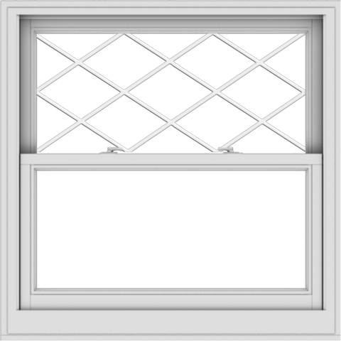 WDMA 40x40 (39.5 x 39.5 inch)  Aluminum Single Double Hung Window with Diamond Grids