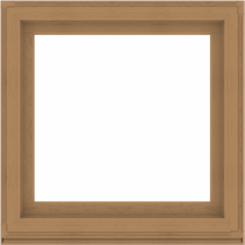 WDMA 40x40 (39.5 x 39.5 inch) Composite Wood Aluminum-Clad Picture Window without Grids-1