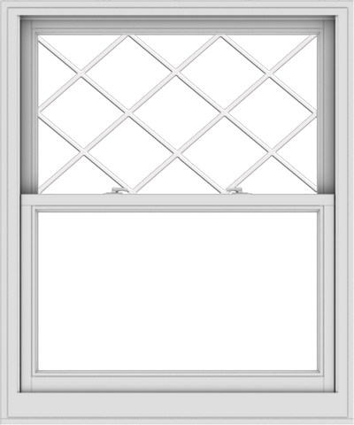 WDMA 40x48 (39.5 x 47.5 inch)  Aluminum Single Double Hung Window with Diamond Grids