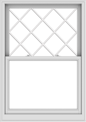 WDMA 40x57 (39.5 x 56.5 inch)  Aluminum Single Double Hung Window with Diamond Grids