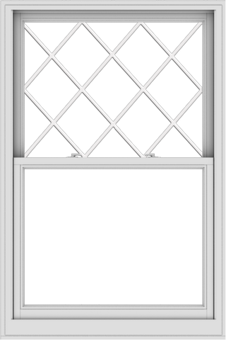 WDMA 40x60 (39.5 x 59.5 inch)  Aluminum Single Double Hung Window with Diamond Grids