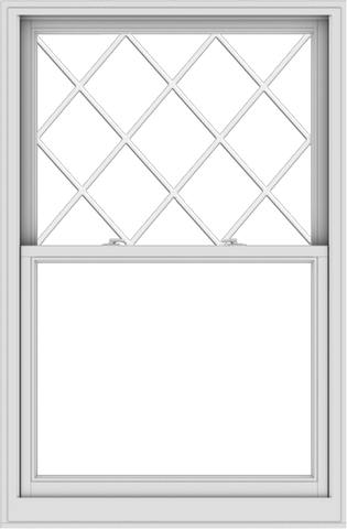 WDMA 40x61 (39.5 x 60.5 inch)  Aluminum Single Double Hung Window with Diamond Grids