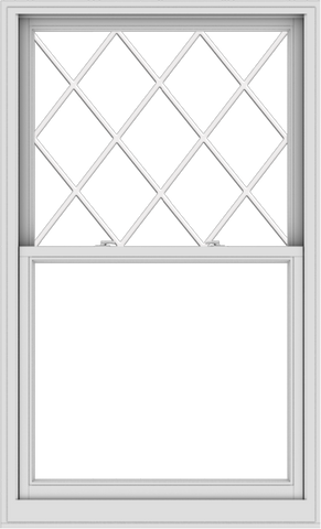 WDMA 40x66 (39.5 x 65.5 inch)  Aluminum Single Double Hung Window with Diamond Grids