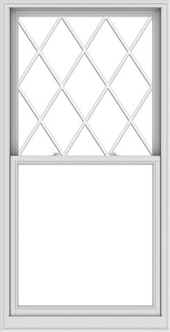 WDMA 40x78 (39.5 x 77.5 inch)  Aluminum Single Double Hung Window with Diamond Grids