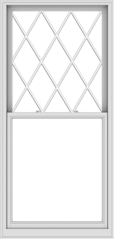 WDMA 40x84 (39.5 x 83.5 inch)  Aluminum Single Double Hung Window with Diamond Grids