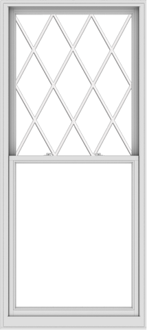 WDMA 40x90 (39.5 x 89.5 inch)  Aluminum Single Double Hung Window with Diamond Grids