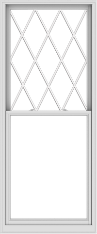 WDMA 40x96 (39.5 x 95.5 inch)  Aluminum Single Double Hung Window with Diamond Grids