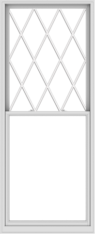 WDMA 44x108 (43.5 x 107.5 inch)  Aluminum Single Double Hung Window with Diamond Grids