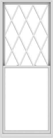 WDMA 44x114 (43.5 x 113.5 inch)  Aluminum Single Double Hung Window with Diamond Grids