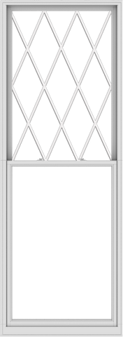 WDMA 44x120 (43.5 x 119.5 inch)  Aluminum Single Double Hung Window with Diamond Grids