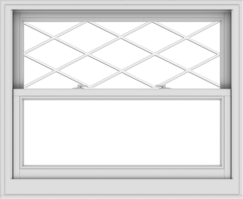 WDMA 44x36 (43.5 x 35.5 inch)  Aluminum Single Double Hung Window with Diamond Grids