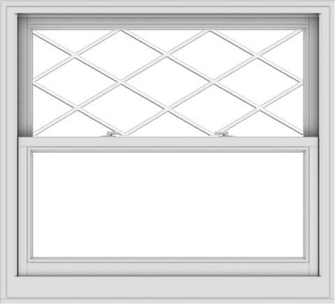 WDMA 44x40 (43.5 x 39.5 inch)  Aluminum Single Double Hung Window with Diamond Grids