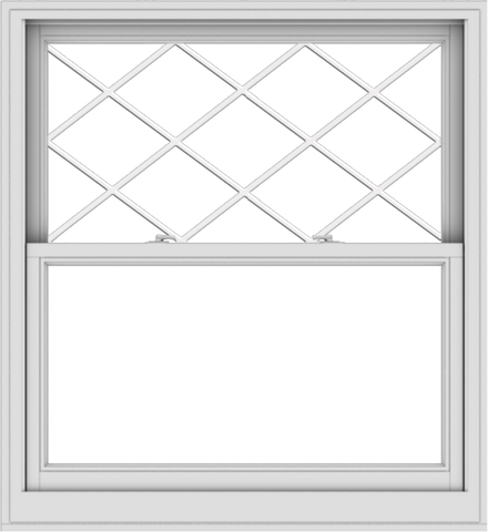 WDMA 44x48 (43.5 x 47.5 inch)  Aluminum Single Double Hung Window with Diamond Grids