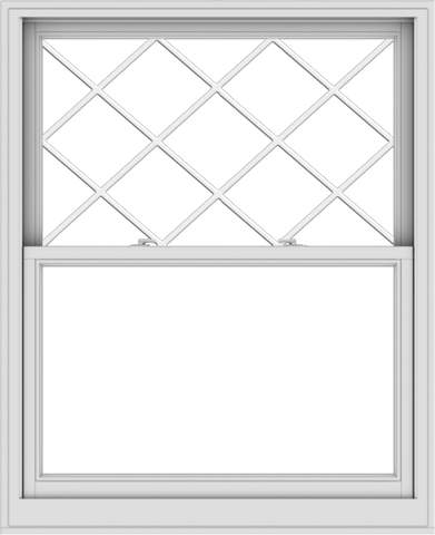 WDMA 44x54 (43.5 x 53.5 inch)  Aluminum Single Double Hung Window with Diamond Grids