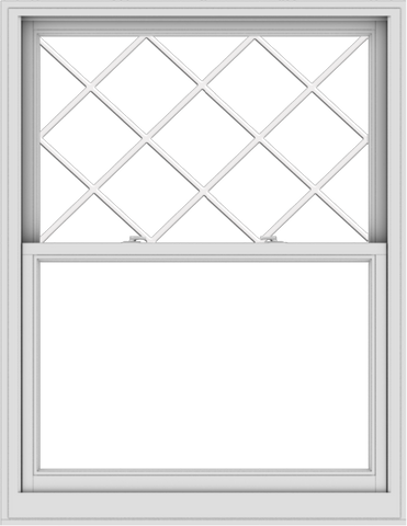 WDMA 44x57 (43.5 x 56.5 inch)  Aluminum Single Double Hung Window with Diamond Grids