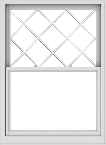 WDMA 44x60 (43.5 x 59.5 inch)  Aluminum Single Double Hung Window with Diamond Grids