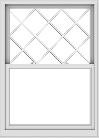 WDMA 44x61 (43.5 x 60.5 inch)  Aluminum Single Double Hung Window with Diamond Grids