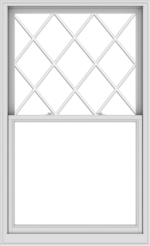 WDMA 44x72 (43.5 x 71.5 inch)  Aluminum Single Double Hung Window with Diamond Grids