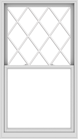 WDMA 44x78 (43.5 x 77.5 inch)  Aluminum Single Double Hung Window with Diamond Grids
