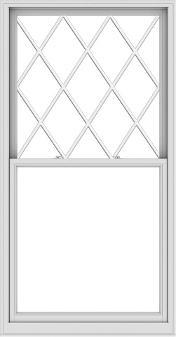 WDMA 44x84 (43.5 x 83.5 inch)  Aluminum Single Double Hung Window with Diamond Grids