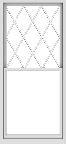 WDMA 44x96 (43.5 x 95.5 inch)  Aluminum Single Double Hung Window with Diamond Grids