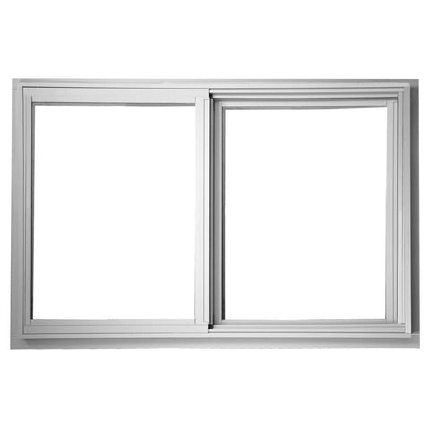 48x36 47.25x35.25 Sliding Aluminum Window White Low-E Glass with Screen