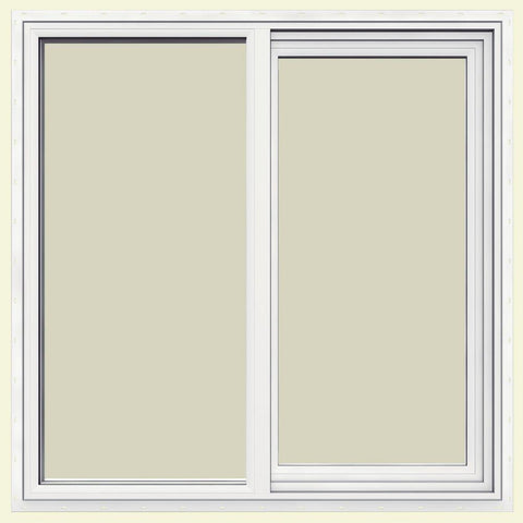 48x48 47.5x35.5 White Vinyl Sliding Window