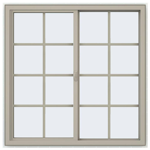 48x48 47.5x47.5 Vinyl PVC Sliding Window With Colonial Grids Grilles