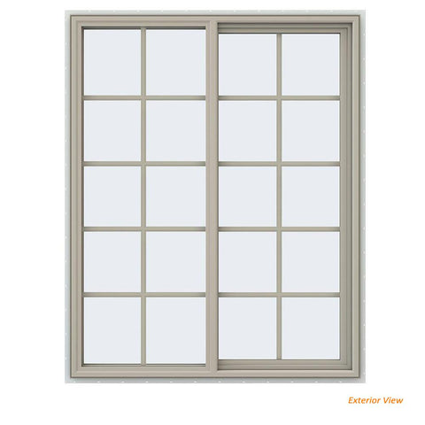48x60 47.5x59.5 Vinyl Pvc Sliding Window With Colonial Grids Grilles