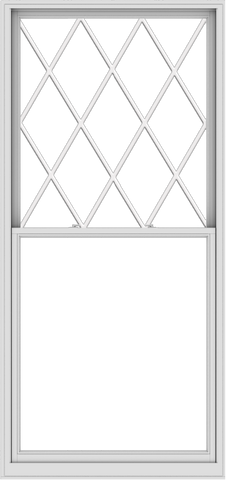WDMA 48x102 (47.5 x 101.5 inch)  Aluminum Single Double Hung Window with Diamond Grids
