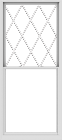 WDMA 48x108 (47.5 x 107.5 inch)  Aluminum Single Double Hung Window with Diamond Grids