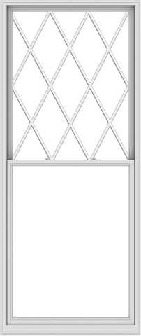 WDMA 48x114 (47.5 x 113.5 inch)  Aluminum Single Double Hung Window with Diamond Grids