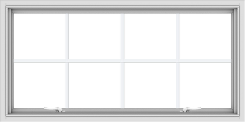 WDMA 48x24 (47.5 x 23.5 inch) White uPVC Vinyl Push out Awning Window with Colonial Grids Interior