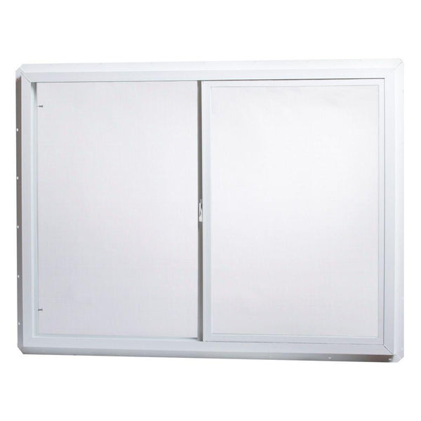 48x36 Window Slider Vinyl White Single Glass and Screen