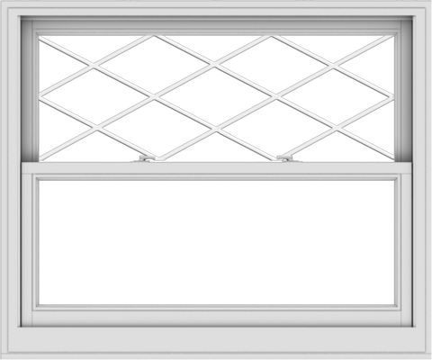 WDMA 48x40 (47.5 x 39.5 inch)  Aluminum Single Double Hung Window with Diamond Grids