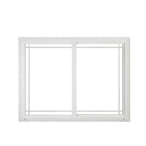 48x48 White Color Vinyl PVC uPVC Sliding  window