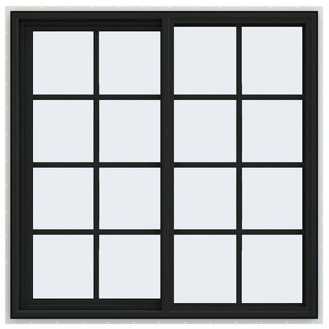 48x48 Vinyl PVC Sliding Window With Colonial Grids Grilles