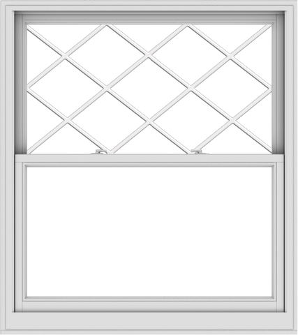 WDMA 48x54 (47.5 x 53.5 inch)  Aluminum Single Double Hung Window with Diamond Grids