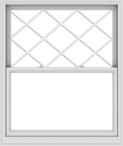 WDMA 48x57 (47.5 x 56.5 inch)  Aluminum Single Double Hung Window with Diamond Grids
