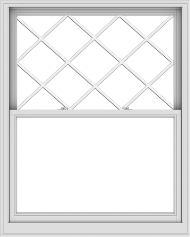 WDMA 48x60 (47.5 x 59.5 inch)  Aluminum Single Double Hung Window with Diamond Grids