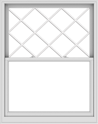 WDMA 48x61 (47.5 x 60.5 inch)  Aluminum Single Double Hung Window with Diamond Grids