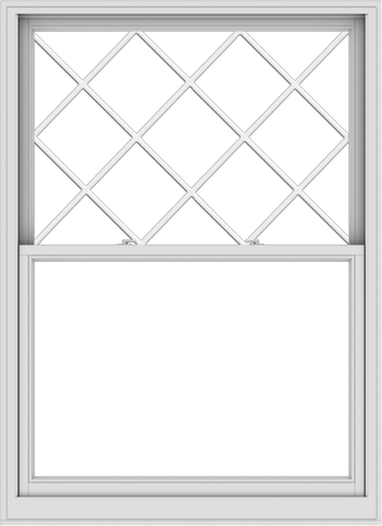 WDMA 48x66 (47.5 x 65.5 inch)  Aluminum Single Double Hung Window with Diamond Grids
