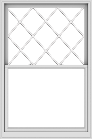 WDMA 48x72 (47.5 x 71.5 inch)  Aluminum Single Double Hung Window with Diamond Grids