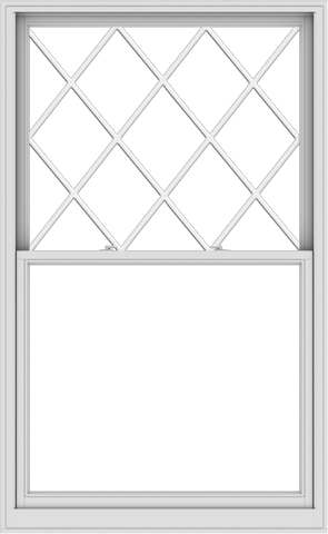 WDMA 48x78 (47.5 x 77.5 inch)  Aluminum Single Double Hung Window with Diamond Grids