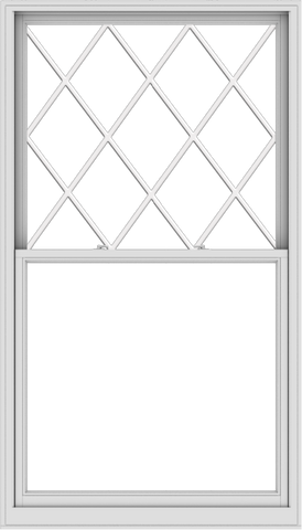 WDMA 48x84 (47.5 x 83.5 inch)  Aluminum Single Double Hung Window with Diamond Grids