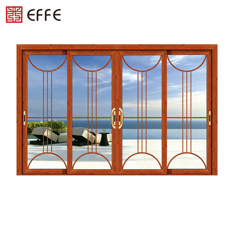 4panel double slide opendouble glass aluminum profiles sided lift and sliding patio doors on China WDMA