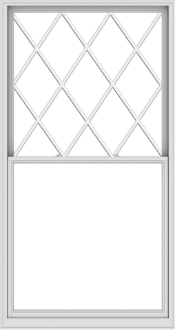 WDMA 54x102 (53.5 x 101.5 inch)  Aluminum Single Double Hung Window with Diamond Grids