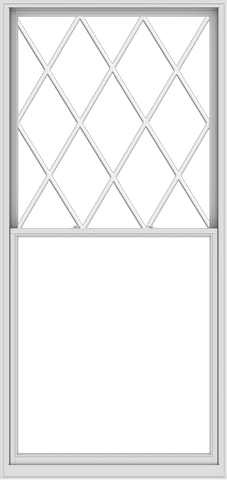 WDMA 54x114 (53.5 x 113.5 inch)  Aluminum Single Double Hung Window with Diamond Grids