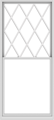 WDMA 54x120 (53.5 x 119.5 inch)  Aluminum Single Double Hung Window with Diamond Grids